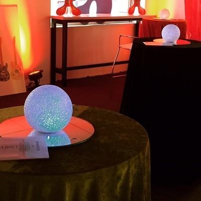 LED balls / globes 7cm