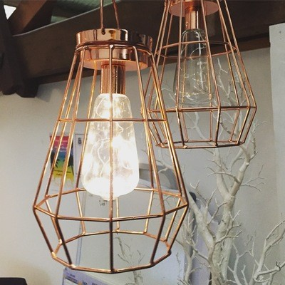Copper Lanterns - hanging
