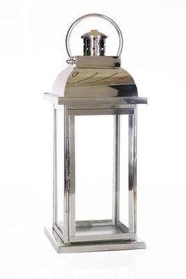 Lantern - Silver 47cm H
