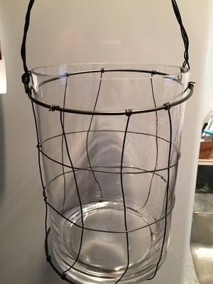 Lantern - Black and Glass