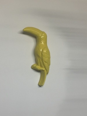 Parrot - Yellow Ceramic (flat side for wall)