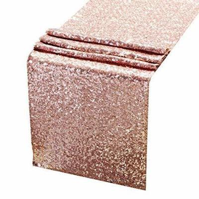 Table runner - Sequin - rose gold / Blush