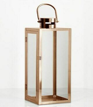 Lantern - Rose Gold - 17.5×16.5×41cmH