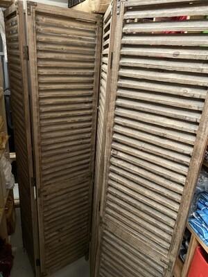 Dividers - 4 panel cedar wood