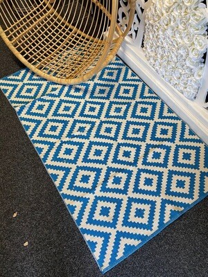 Picnic Rugs - Blue/White