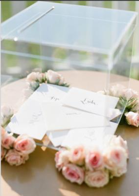 Acrylic Wedding Wishing well