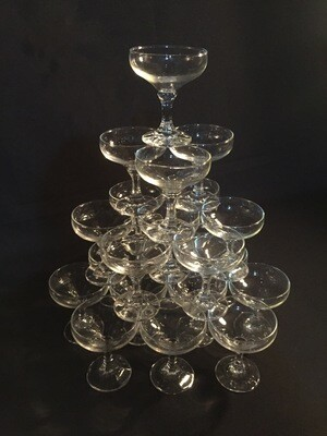 Champagne tower (21 glasses)