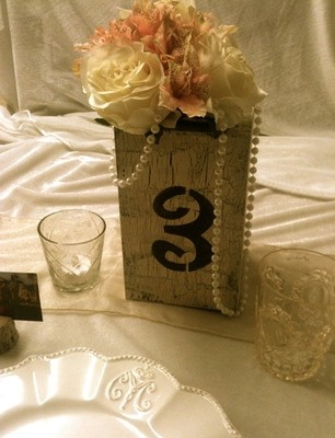 Vintage Table Number Boxes 1-11