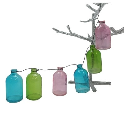 String vases - coloured