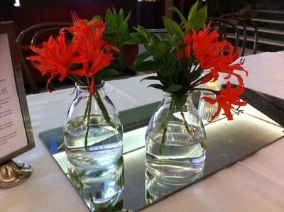 Bud vases - large flat base
