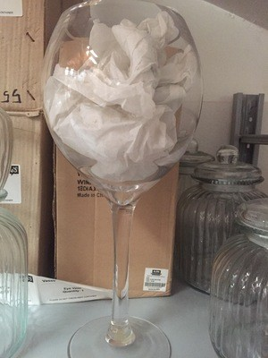 Wine glass vase - Oversized (18x40cm)