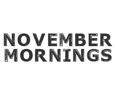 Font License for November Mornings