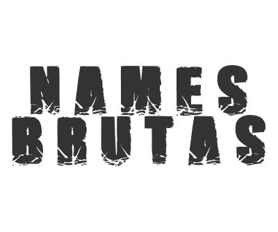 Font License for Names Brutas