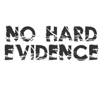 Font License for No Hard Evidence