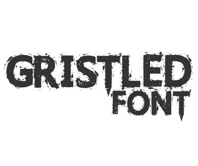 Font License for Gristled Font