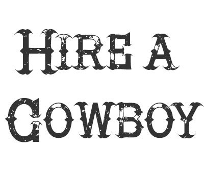 Font License for Hire a Cowboy