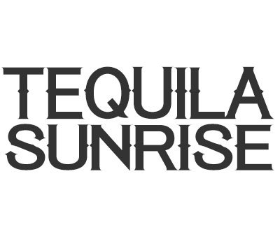 Font License for Tequila Sunrise