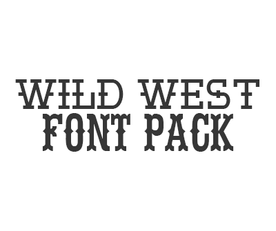 Wild West Font Pack