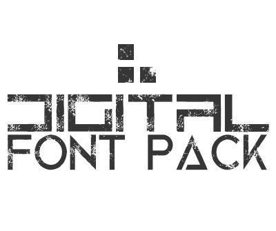 Digital Design Font Pack