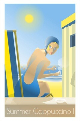 Summer Cappuccino I - Affiche illustration