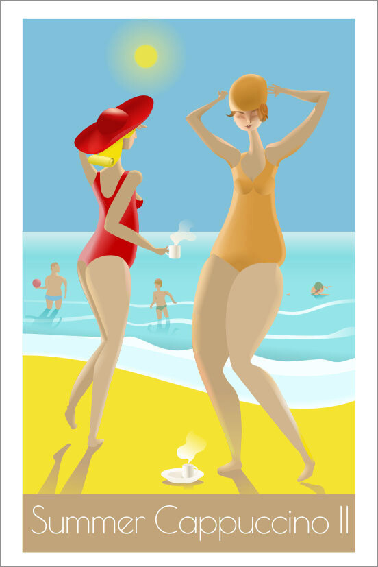 Summer Cappuccino II - Affiche illustration
