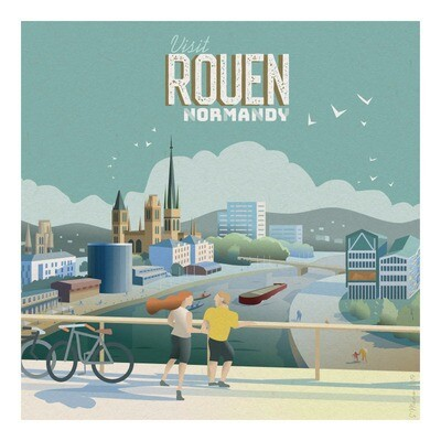 Rouen - Affiche illustration
