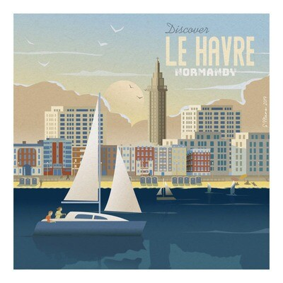 Le Havre - Affiche illustration