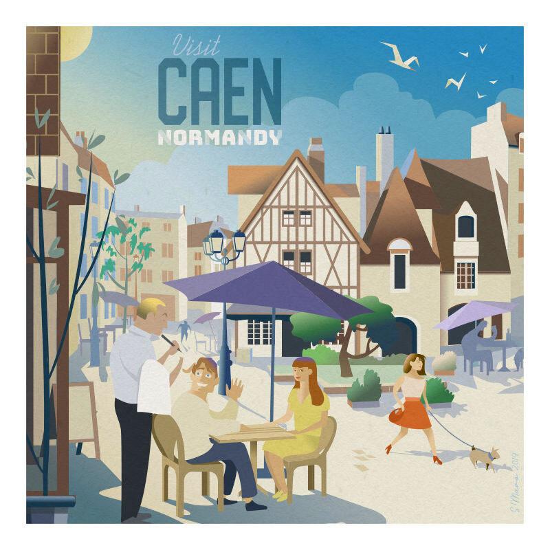 Caen - Affiche illustration