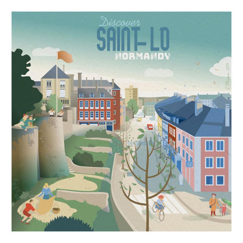 Saint-Lô - Affiche illustration