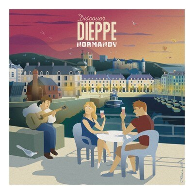 Dieppe - Affiche illustration