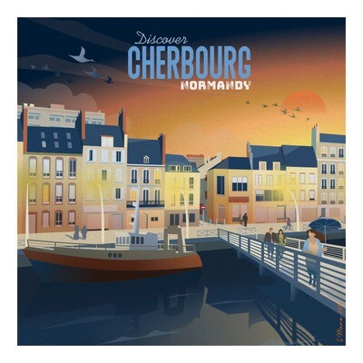 Cherbourg - Affiche illustration