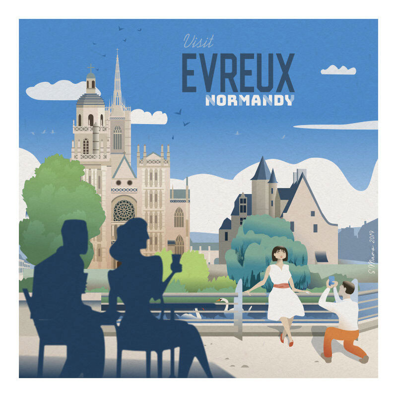 Evreux - Affiche illustration