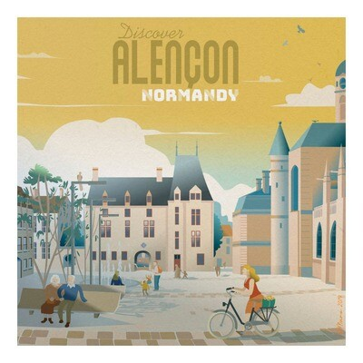 Alençon, ville normande - Affiche illustration
