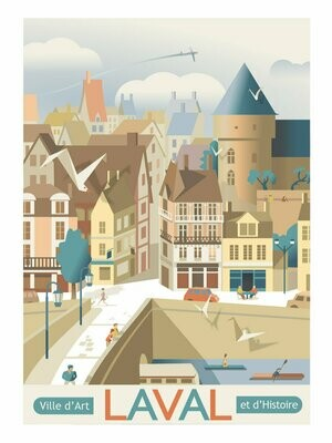 Ville de Laval - Affiche illustration