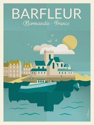 Barfleur - Affiche illustration