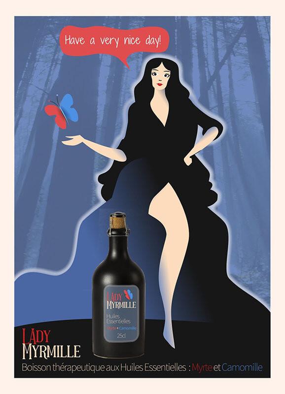 Lady Myrmille - Affiche illustration
