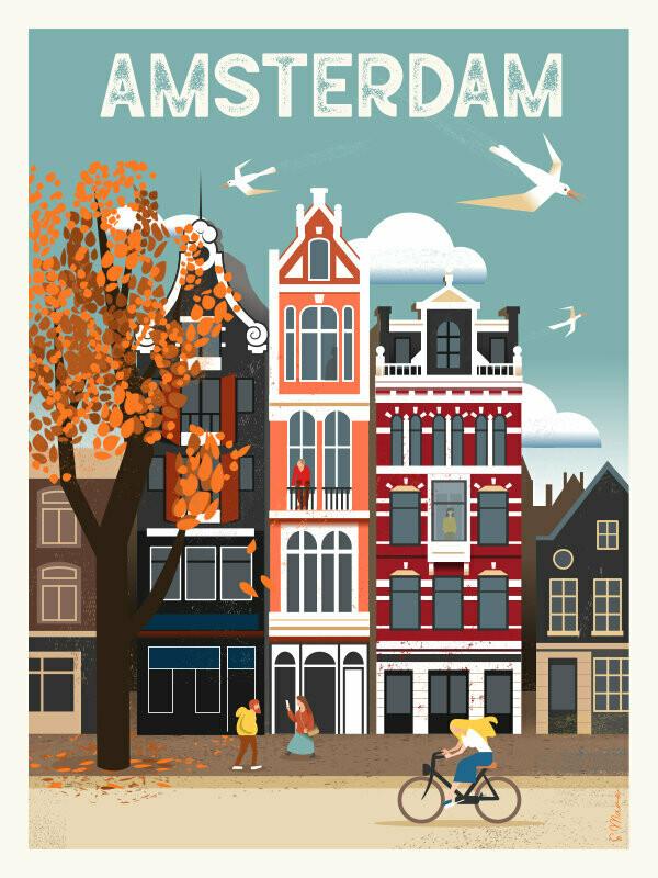Amsterdam - Poster affiche illustration