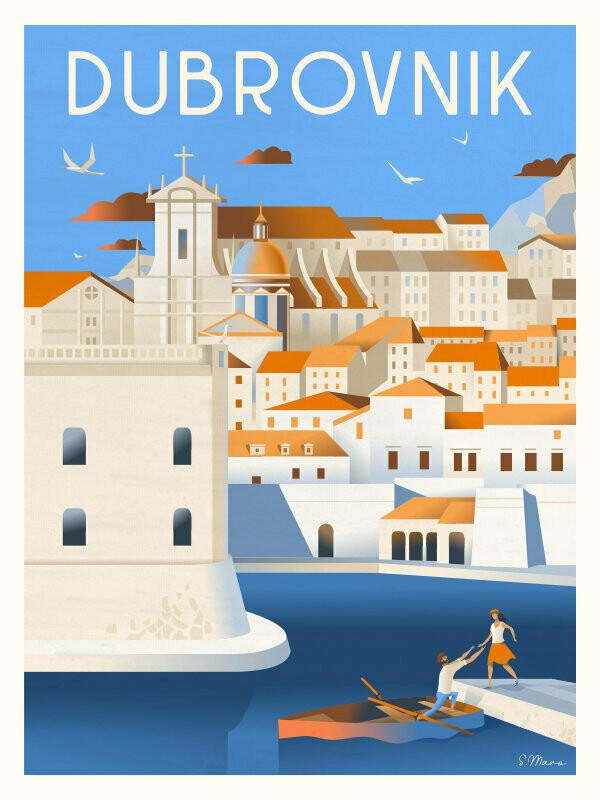Dubrovnik - Affiche illustration