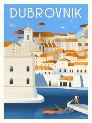 Dubrovnik - Affiche illustration