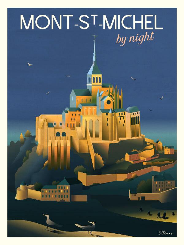 Affiche du Mont-Saint-Michel - Poster illustration
