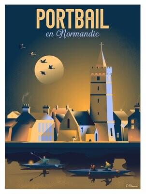 Affiche de Portbail - Poster illustration