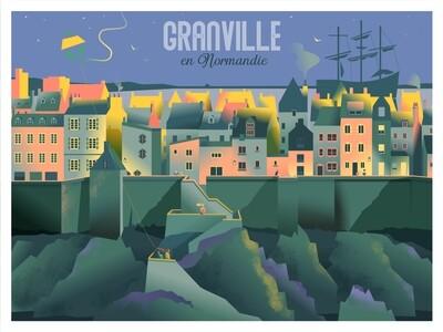 Affiche de Granville - Poster illustration
