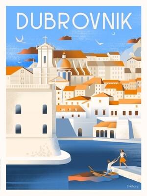 Affiche de Dubrovnik - Poster illustration