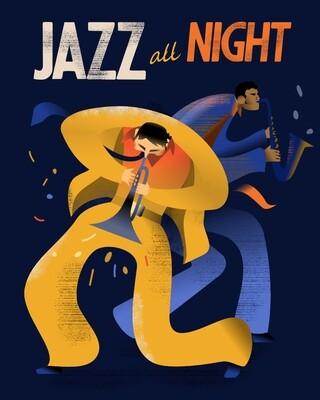 Jazz All Night - Poster illustration