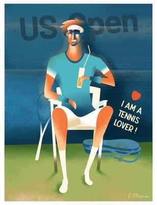 I am a Tennis Lover! - Poster illustration