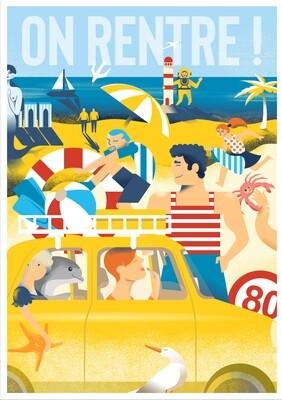 On Rentre ! - Poster illustration