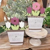 Flowers For Mom/Grandma Wood Blank