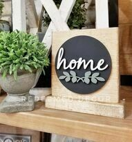 Mini Home Sitter Sign 3D Laser Cut