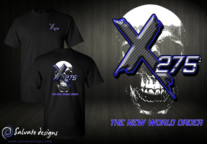 X275 Blue Carbon & Chrome Design