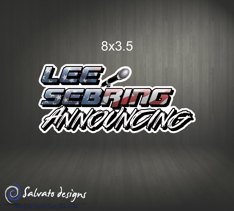 Lee Sebring Announcing Decal